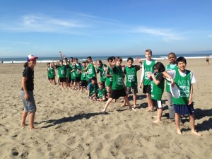 Bay Area Disc's King of Bongo Tourney: Ashley leading her coed middle school team to its first-ever win