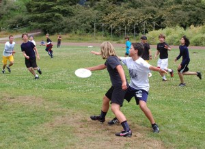 Chloe Carothers-Liske honing her skills back in 2011 at Bay Area Disc summer camp